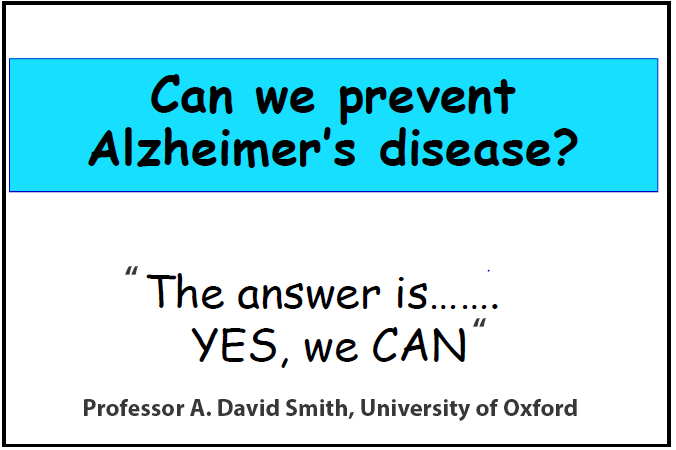 Prevent Alzheimer's? Yes, we can!